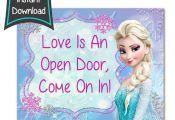 Frozen Birthday sign - Frozen printables - 8x10 printables - DIY - digital file