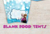 Frozen Blank Food Tents. Frozen Birthday Invitations, Thank You Cards and Party ...