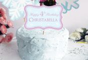 Frozen Cake Topper for Frozen Birthday Party. Personalized Frozen Cake…