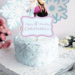 Frozen Cake Topper for Frozen Birthday Party. by Popobell on Etsy