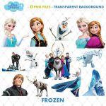 Frozen Clipart, PNG Clip Art Files, Frozen Printable Images, Digital Download, E...