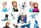 Frozen Clipart, PNG Clip Art Files, Frozen Printable Images, Digital Download, E...