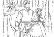 Frozen Coloring Page Ann Kristoff 214x300 FREE Frozen Printable Coloring & Activ...