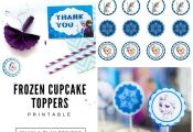 Frozen Cupcake Toppers/Frozen Circle Tags/Frozen Toppers/Frozen Tags/Frozen Stic...