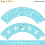 Frozen Cupcake wrappers, cupcake wrapper printable, cupcake label printable, Pri...