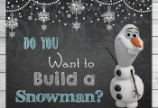 Frozen Do You Want to Build A Snowman Sign Chalkboard Olaf // Frozen Printable W...
