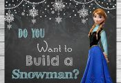 Frozen Do You Want to Build A Snowman Sign by ItsACowsOpinion