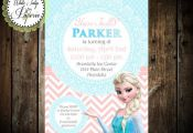 Frozen Elsa Birthday Invitation Frozen by WhiteTulipPaperie
