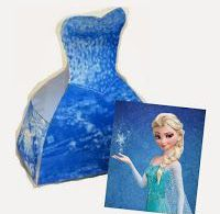 Frozen: Elsa Free Printable Dress Shaped Box.  box, Dress, Elsa, free, Frozen, p...