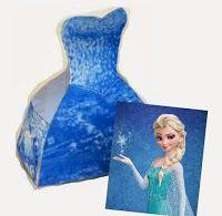 Frozen: Elsa Free Printable Dress Shaped Box.  box, Dress, Elsa, free, Frozen, p...