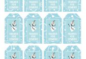 Frozen Favor Tags // Thank You Tags // Loot Bag Tags // Frozen Birthday Printabl...