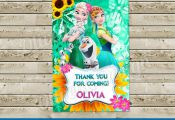 Frozen Fever Invitation for Birthday Party with photo, Frozen Printable, Frozen ...