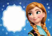Frozen: Free Printable Cards or Party Invitations.