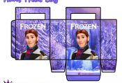 Frozen: Free Printable Paper Bags in Lilac.