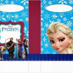 Frozen Free Printable Paper Favor Bags.