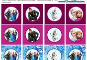 Frozen: Free Printable Toppers.  free, Frozen, printable, toppers #Free, #Frozen...