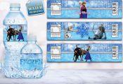Frozen, Frozen Water Bottle Labels, Frozen Labels, Frozen Banner, Frozen Invitat...