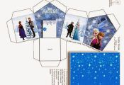 Frozen: House shapped Free Printable Box.