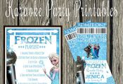 """Frozen Inspired Karaoke Party Printables - Includes (10) 8"""" x 10"""" posters, one f..."""
