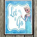 "Frozen Inspired Karaoke Party Printables - ""Let It Go"" 8"" x 10"" Poster"