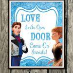 """Frozen Inspired Karaoke Party Printables - """"Love Is An Open Door"""" 8"""" x 10"""" Poste..."""