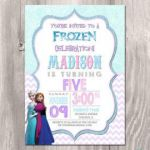Frozen Invitation, Frozen Birthday Invitation, Frozen printable Invitation, Froz...