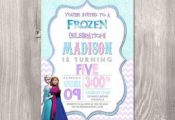 Frozen Invitation, Frozen Birthday Invitation, Frozen printable Invitation, Froz...