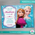 Frozen Invitation Print Yourself, Frozen Birthday, Frozen Party, Frozen Printabl...