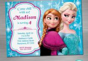 Frozen Invitation Print Yourself, Frozen Birthday, Frozen Party, Frozen Printabl...
