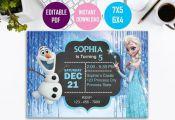 Frozen Invitation instant download, Frozen Birthday Invitation , Frozen Printabl...