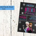 Frozen Invite, Elsa and Anna Invite, Frozen Invitation, Frozen Printable, Frozen...