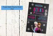 Frozen Invite, Elsa and Anna Invite, Frozen Invitation, Frozen Printable, Frozen...