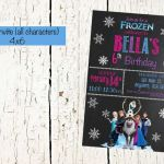 Frozen Invite, all frozen characters, Olaf Birthday Invite, Frozen Birthday Prin...