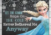 Frozen Let the Storm Rage On Sign Chalkboard Elsa // Frozen Printable Wall Art /...
