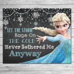 Frozen Let the Storm Rage On Sign Chalkboard by ItsACowsOpinion