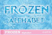 Frozen Letters Font Alphabet