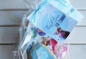 Frozen Loot Bag. I filled with some inexpensive Frozen stickers, a tattoo, a bal...