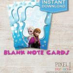Frozen PRINTABLE NOTE CARDS Frozen Note by PixelPerfectShoppe, $3.00