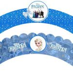 Frozen Party: Free Printable Cupcake Wrapper. Print on  cardboard, wrap around c...