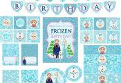 Frozen Party, Frozen Party Package, Frozen Birthday, Blue Frozen, Frozen Party K...