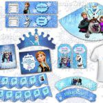 Frozen Party Package, Frozen Printable kit, Frozen birthday decorations, Frozen ...