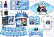 Frozen Party Package, Frozen Printable kit, Frozen birthday decorations, Frozen ...