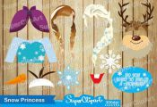 Frozen Photo Booth Props for Frozen Birthday Party by SuperClipArt
