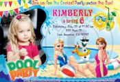 Frozen Pool Party invitation Frozen Summer by BogdanDesign on Etsy