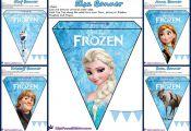 Frozen: Pretty Free Printable Bunting.
