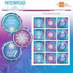"Frozen Princess Winter Snowflakes Printable 2"" Birthday Party Circles - DIY - Do..."