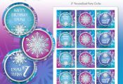 "Frozen Princess Winter Snowflakes Printable 2"" Birthday Party Circles - DIY - Do..."
