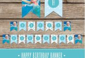 Frozen Printable Birthday Banner