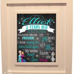 Frozen Printable Chalkboard Birthday Poster by ChickTimesTwo, $14.00