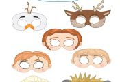Frozen Printable Character Masks - Great since each person can choose their favo...
